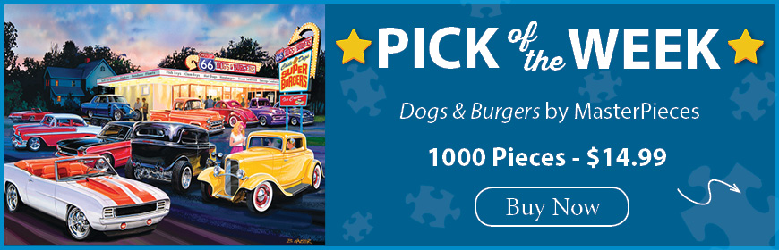 The Puzzle Warehouse Pick of the Week - Dogs & Burgers by MasterPieces