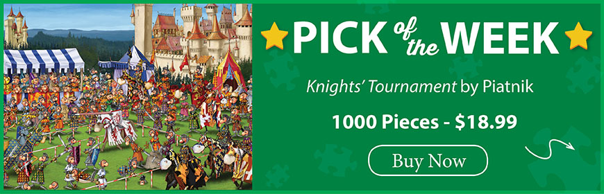 The Puzzle Warehouse Pick of the Week - Knights' Tournament by Piatnik