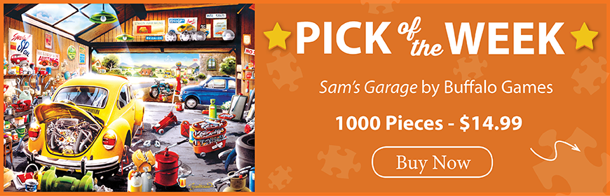 The Puzzle Warehouse Pick of the Week - Sam's Garage by Buffalo Games