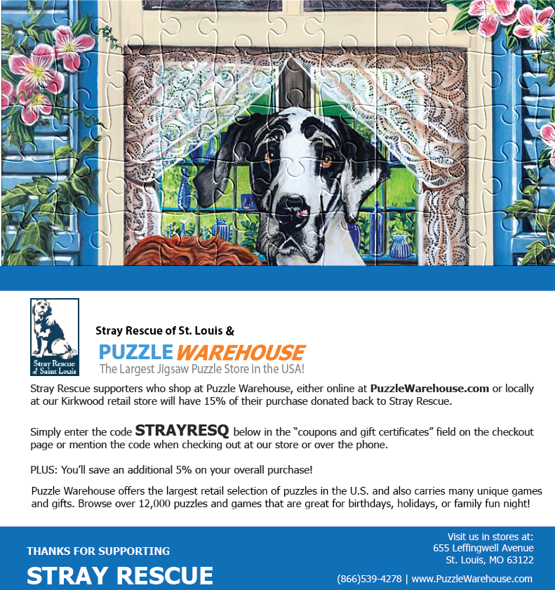 Stray Rescue Partnership With Puzzle Warehouse - The Largest Jigsaw Puzzle Store In The World