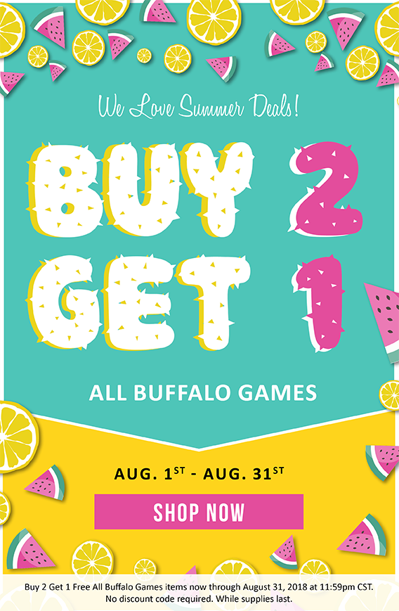 Buy any two Buffalo Games puzzles and get a third for free!