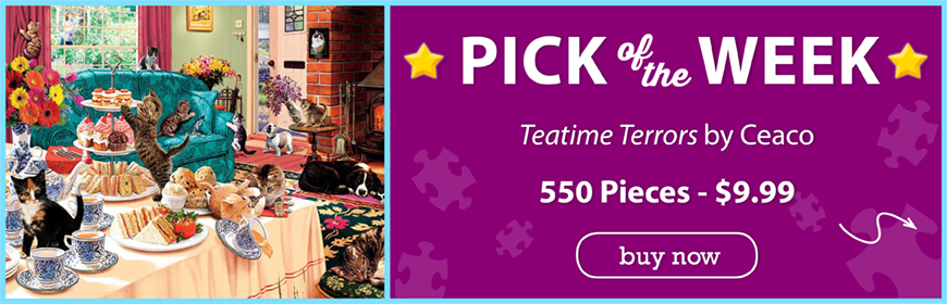 Teatime Terrors, A 550 Piece Jigsaw Puzzle by Ceaco at Puzzle Warehouse!