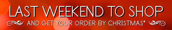 Friday through Sunday enjoy up to 50 percent off on great gifts for everyone on your list.