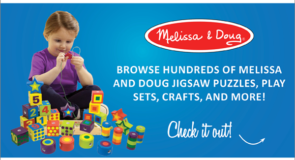 Shop for the little one in your life with our huge selection of Melissa and Doug Toys, Games, and Crafts!