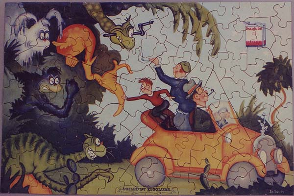 Mass Production and Advertising Jigsaw Puzzles