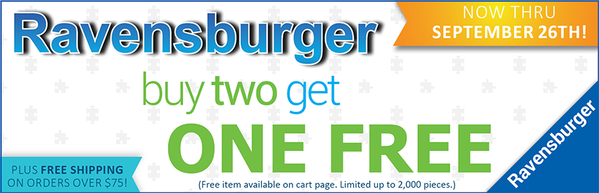 Buy any 2 Ravensburger Puzzles and Get a third for FREE
