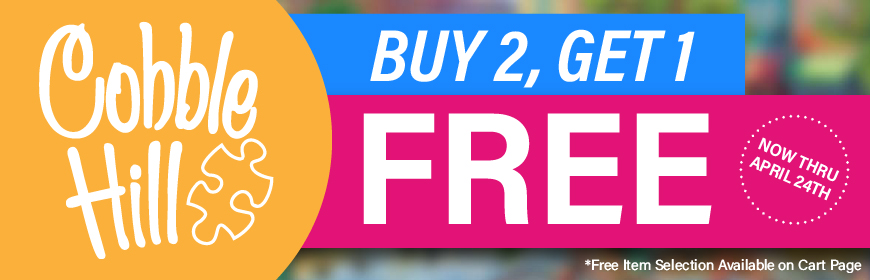 Buy Any Two Cobble Hill Puzzles and Get A Third for Free!