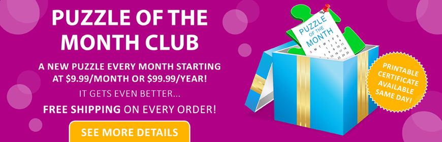 Puzzle of the Month Club - $9.99/mo