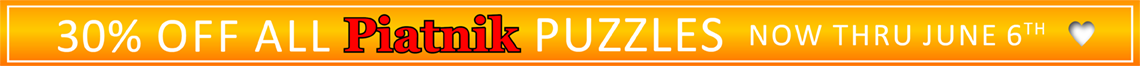 30% Off All Piatnik Puzzles Now thru June 6th!