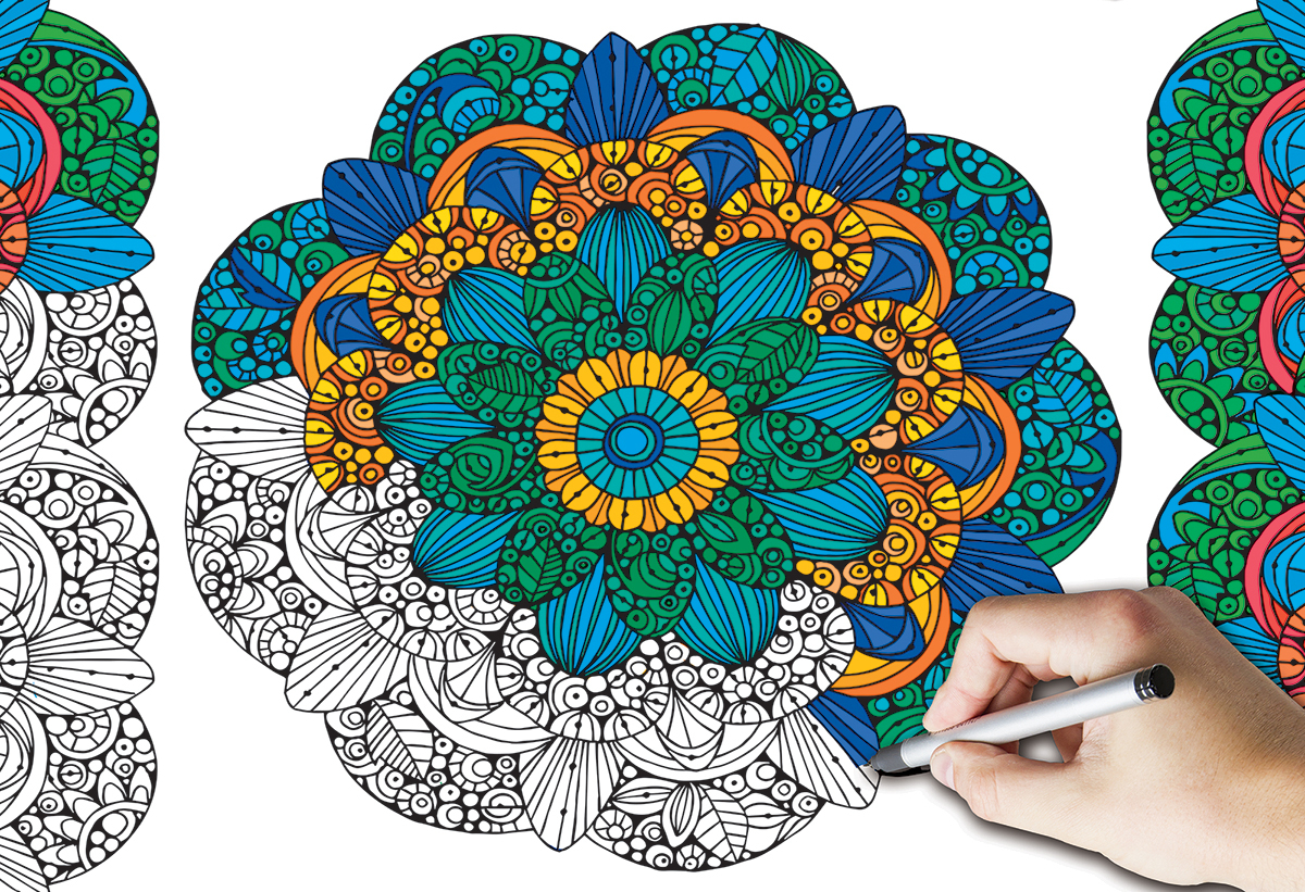 Adult Coloring Puzzles & Books