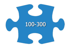 100 - 300 Pieces