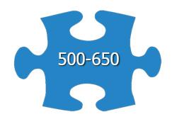 500 - 650 Pieces