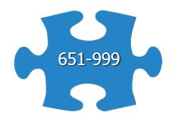 651 - 999 Pieces