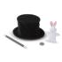 Magic in a Snap! Magician's Pop-Up Hat with Tricks