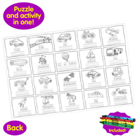 Puzzle Doubles Let's Learn Transportation Vehicles Children's Puzzles