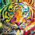 Stripes of Color Tigers Jigsaw Puzzle