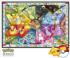 Eevee's Stained Glass - Scratch and Dent Cartoons Jigsaw Puzzle