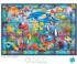 Stained Glass Aquarium - Scratch and Dent Under The Sea Jigsaw Puzzle