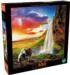 Icelandic Waterfall Mountains Jigsaw Puzzle