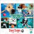 Underwater Dogs Dogs Jigsaw Puzzle