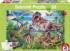 Amongst The Dinosaurs Dinosaurs Jigsaw Puzzle