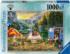 Calm Campsite Mountains Jigsaw Puzzle