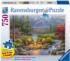 Riverside Livingroom Mountains Jigsaw Puzzle