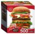 Juicy Burger Food and Drink Shaped Puzzle