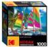 Colorful Sailboats On A Beach Beach Jigsaw Puzzle