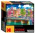Colorful Waterfront Buildings, Amsterdam Street Scene Jigsaw Puzzle