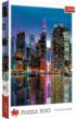 Full Moon Over The Manhattan New York Jigsaw Puzzle