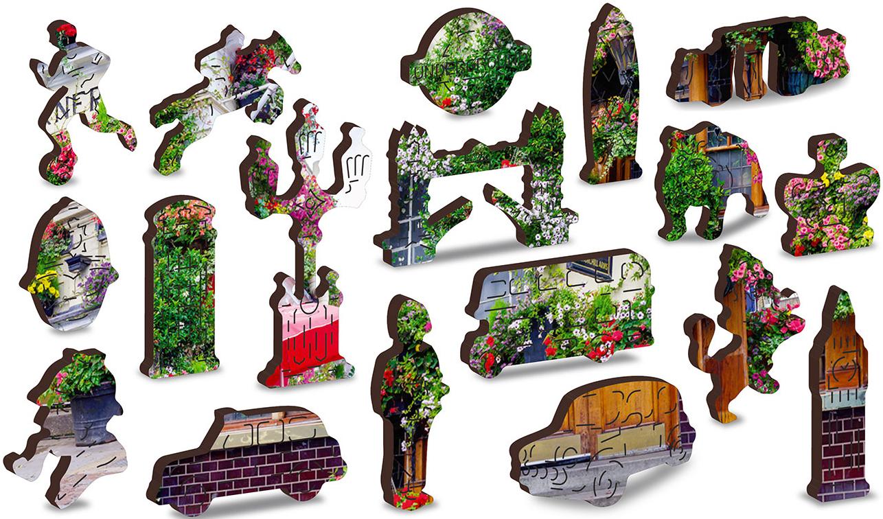 London Pub L Street Scene Wooden Jigsaw Puzzle