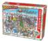 DoodleTown: 12 Days of Christmas Winter Jigsaw Puzzle
