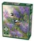 Chickadees and Lilacs Birds Jigsaw Puzzle