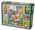 Puppies and Posies Quilt Dogs Jigsaw Puzzle