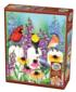 Picket Fence Party Birds Jigsaw Puzzle