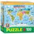 Kids World Map Maps / Geography Jigsaw Puzzle