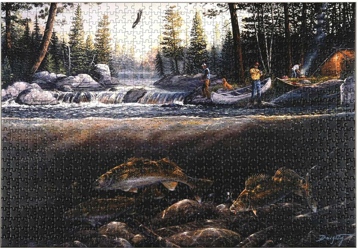 Fishing the Falls Fishing Jigsaw Puzzle
