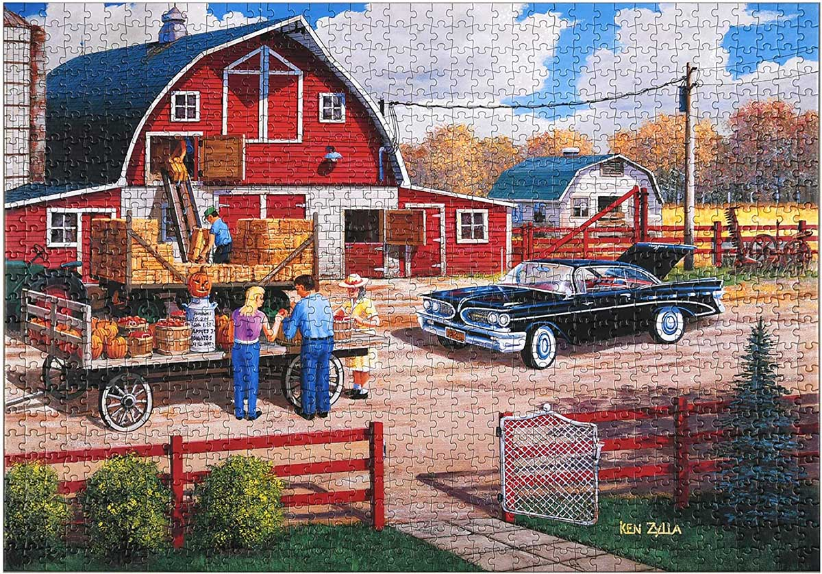 Season of Plenty - Scratch and Dent Countryside Jigsaw Puzzle