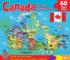 Canada Map Maps / Geography Jigsaw Puzzle