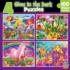 Glow In The Dark - 4-Pack Unicorns Glow in the Dark Puzzle