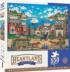 Ocenside Trolley Seascape / Coastal Living Jigsaw Puzzle