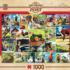 Farmland Collage Nostalgic / Retro Jigsaw Puzzle