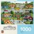 Bungalowville (Hometown Gallery) Americana & Folk Art Jigsaw Puzzle