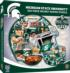 Michigan State Helmet Football Shaped Puzzle