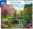 Forest Lake Flowers Jigsaw Puzzle