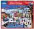 Festive Village Street Scene Jigsaw Puzzle
