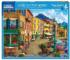 Cafe on the Water Street Scene Jigsaw Puzzle