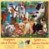 Puppies on a Picnic Dogs Jigsaw Puzzle