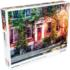 Leafy Townhouses Domestic Scene Jigsaw Puzzle